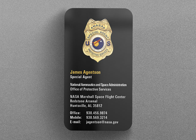 nasa federal law enforcement business card