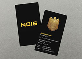 naval business card