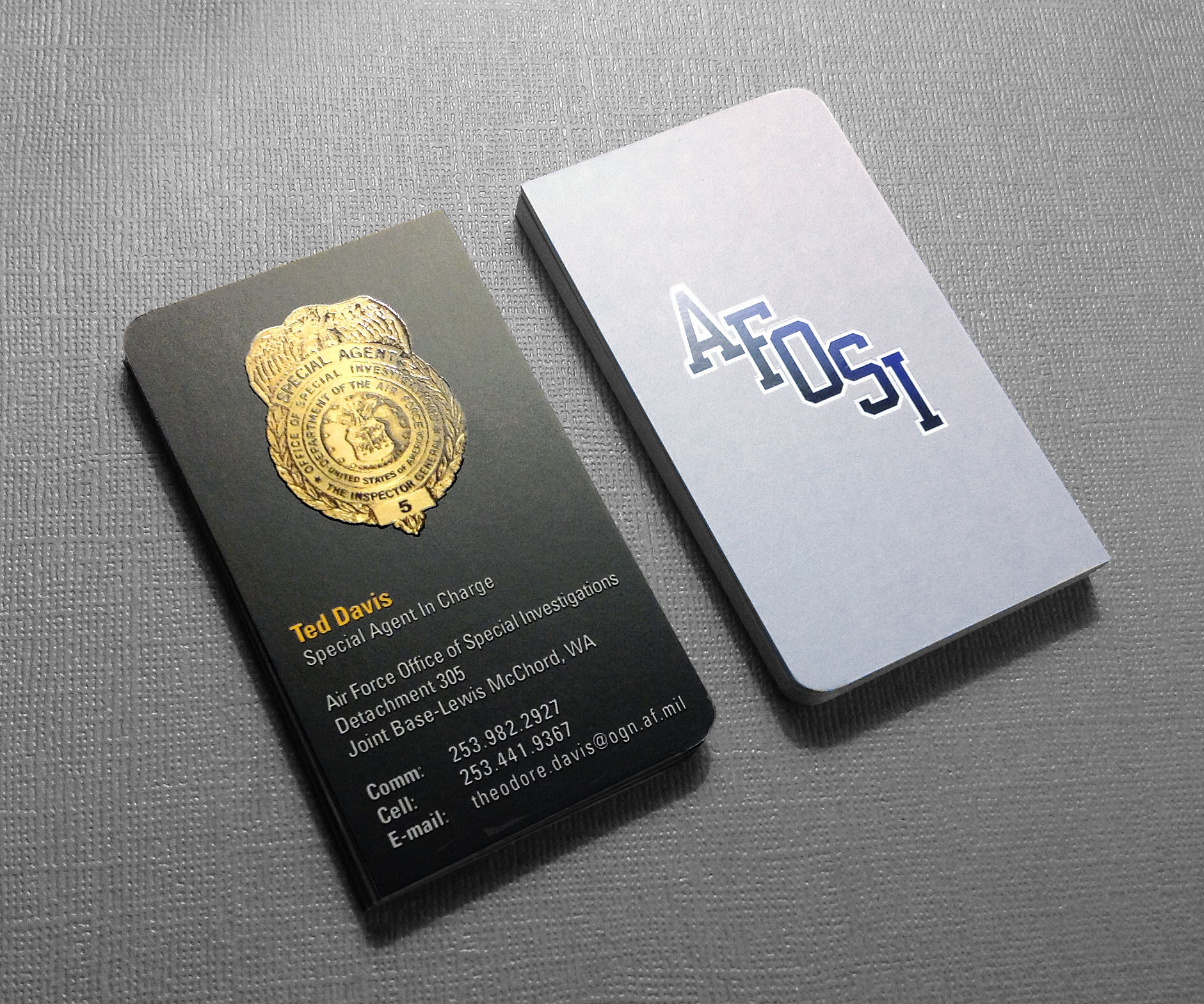 Law Enforcement Business Card Design