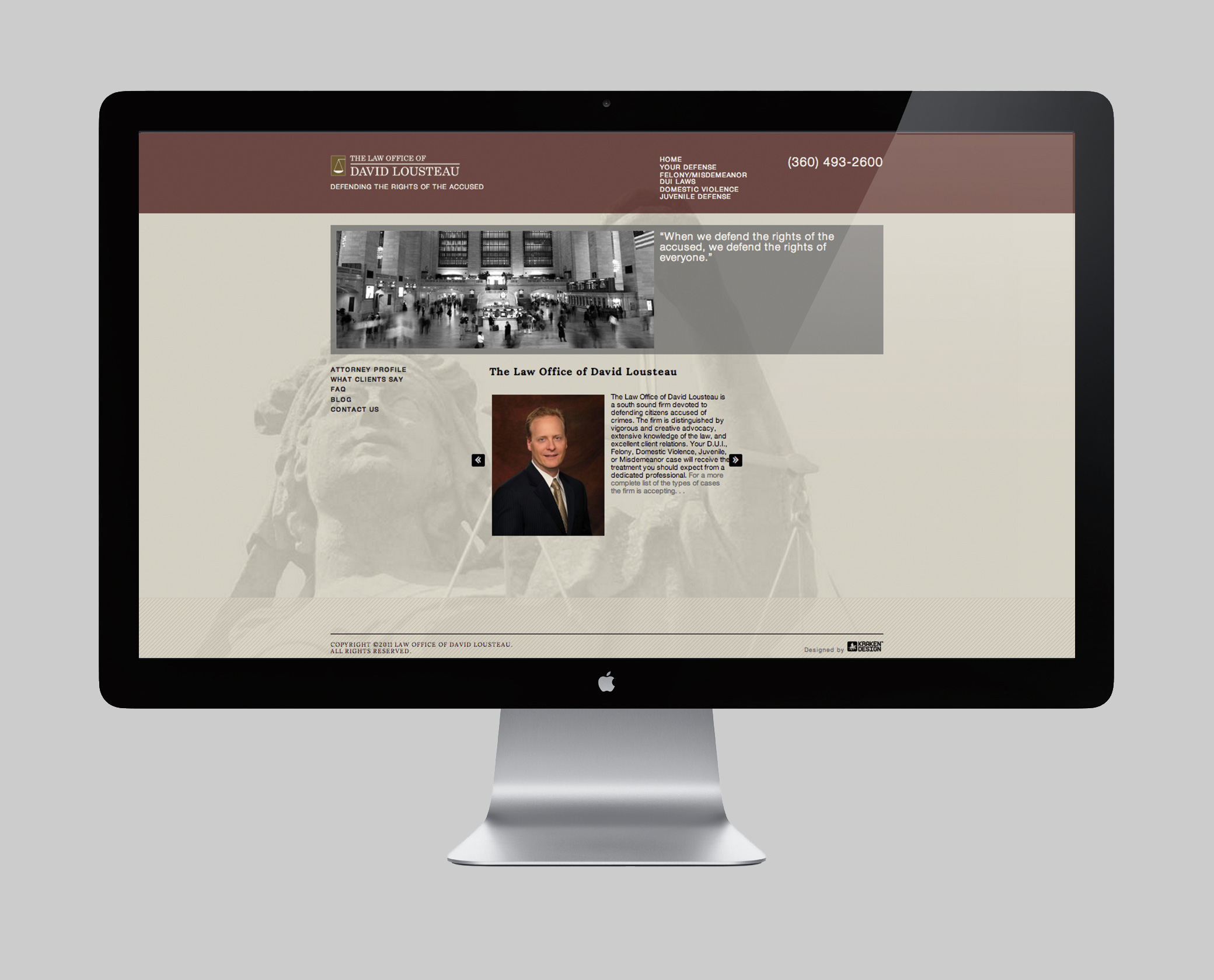 Law Office of David Lousteau Website Design