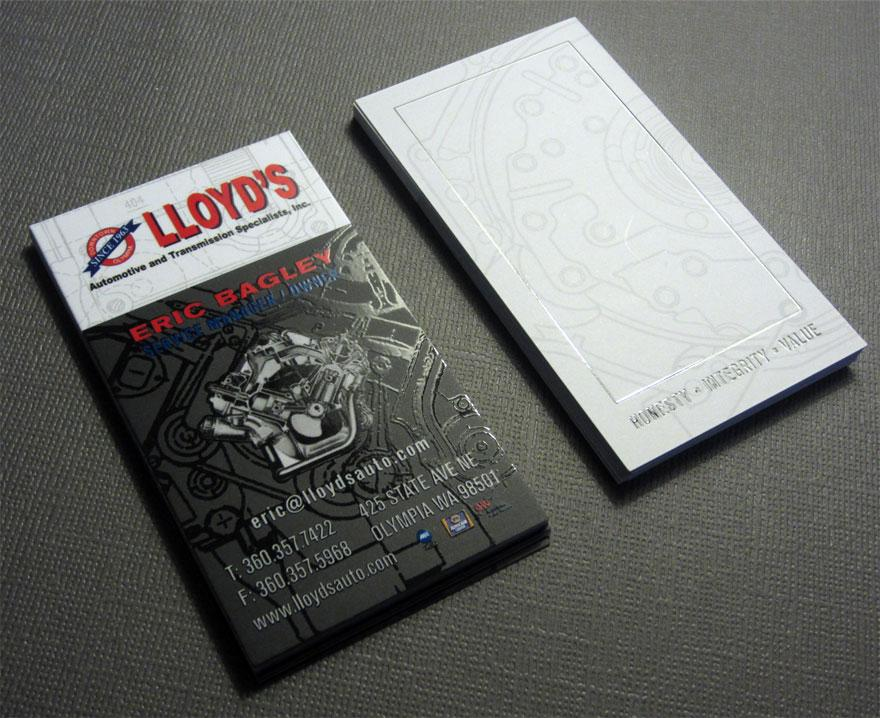 Lloyd's Automotive Business Card Design