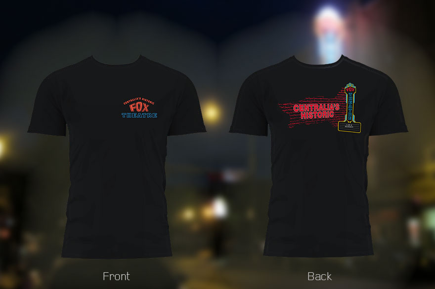Centralia Fox Theatre T-Shirt Design