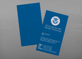 federal law enforcement business card