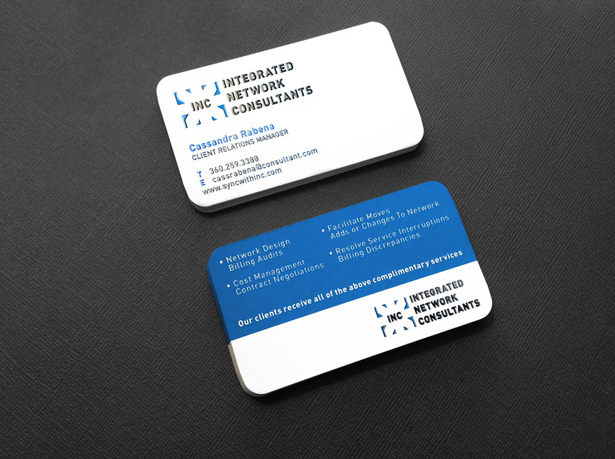 Integrated Network Consultants Business Card