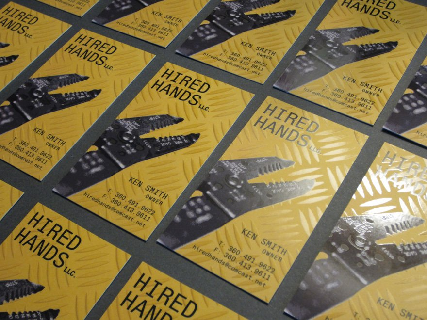 Hired Hands Electrical Services Business Card