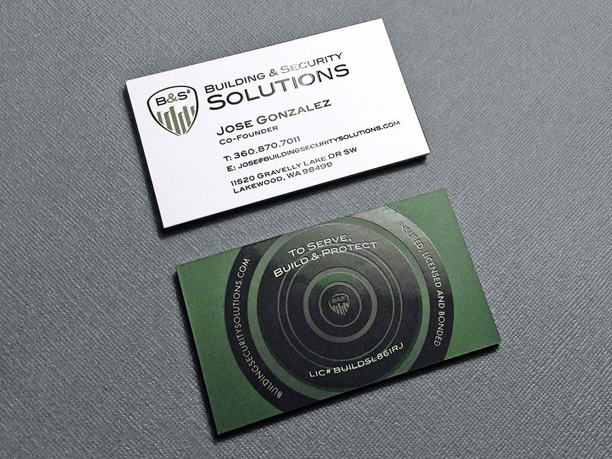 Security system company business card kraken design information business card colourmoves