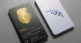 Law Enforcement Business Card Design