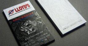 Lloyd's Automotive Business Card Design